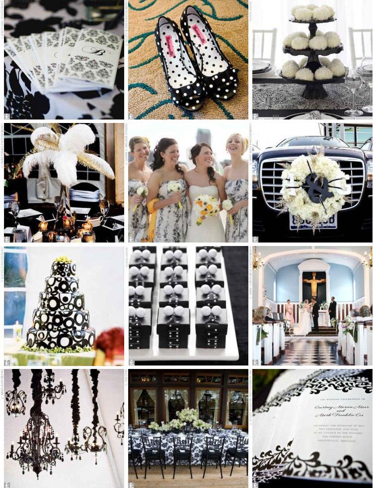 Черно-белая свадьба. Цветная свадьба
