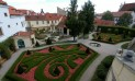 Дворцовые сады в центре Праги